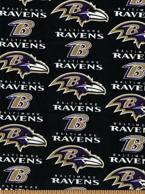 Baltimore Ravens NFL Football Fabric|100% Cotton|Sold by the half yard