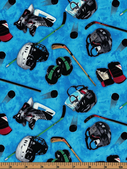 Hockey Gear Toss Fabric - 100% Cotton- Sold by the Half Yard