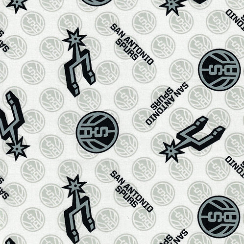 San Antonio Spurs Basketball | NBA Fabric |100% Cotton|Sold by the half yard
