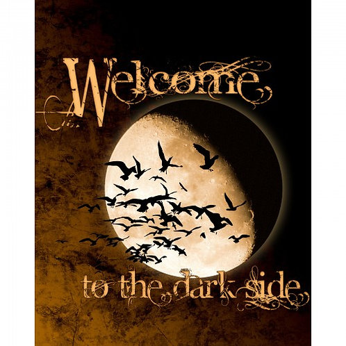 Welcome to the Dark Side Halloween Fabric Panel - 100% Cotton