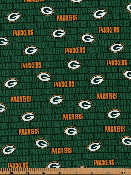 Green Bay Packers Name Toss | NFL Football Fabric|100% Cotton | by the1/2 Yard