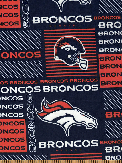 Denver Broncos NFL Football Fabric|100% Cotton|Sold by the half yard