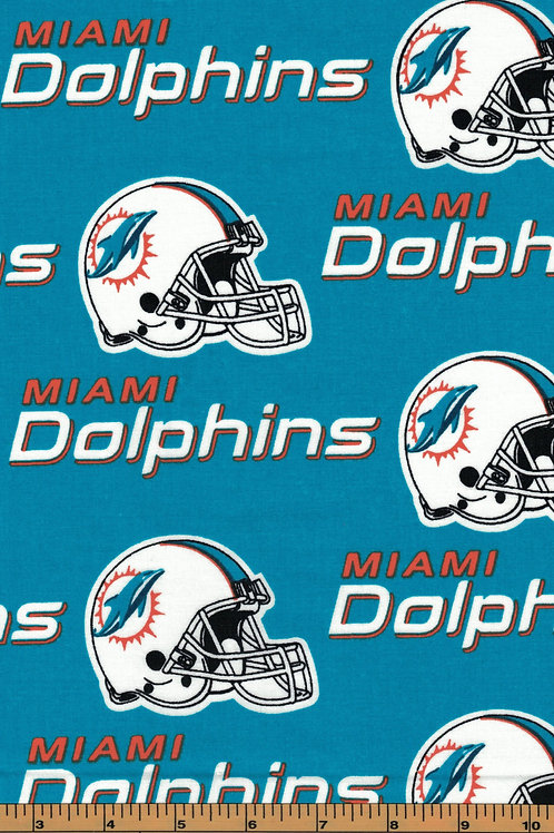 Miami Dolphins NFL Football Fabric|100% Cotton|Sold by the half yard