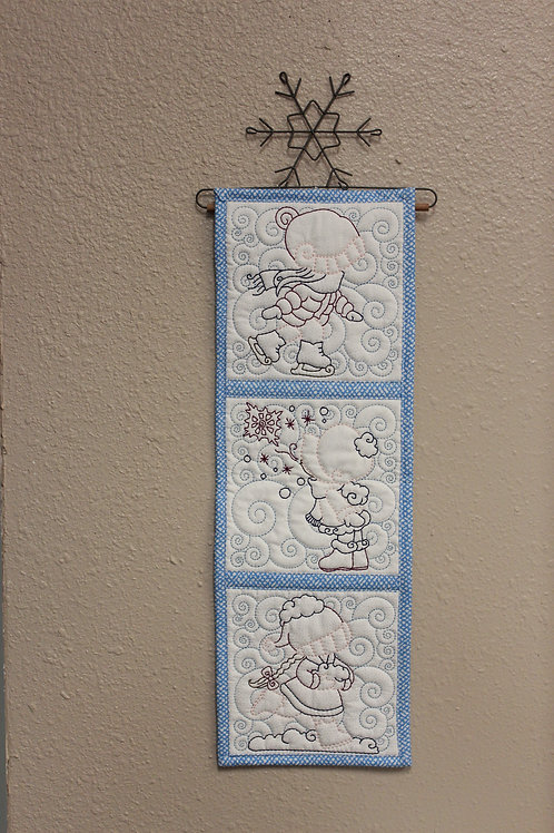 Sun Bonnet Sue Embroidered Wall Hanging