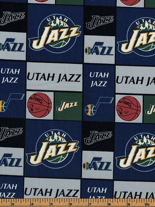 Utah Jazz Basketball | NBA Fabric |100% Cotton|Sold by the half yard