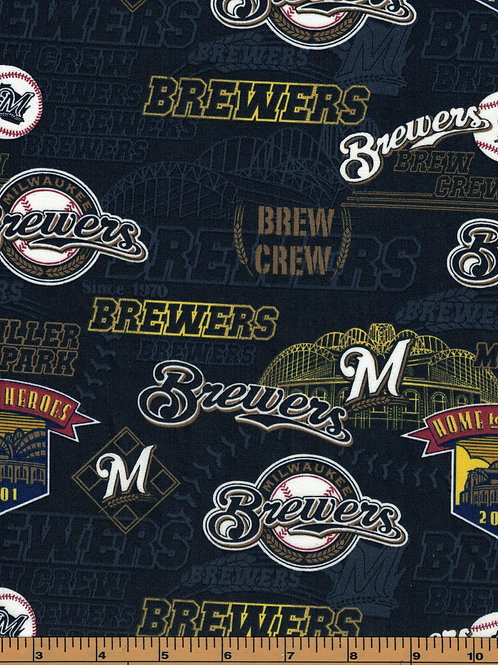 Milwaukie Brewers - Stadium - MLB Fabric |100% Cotton|Sold by the half yard