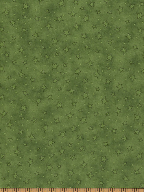 Green Stars Filler Fabric - Starry Basics - 100% Cotton- Sold by the Half Yard