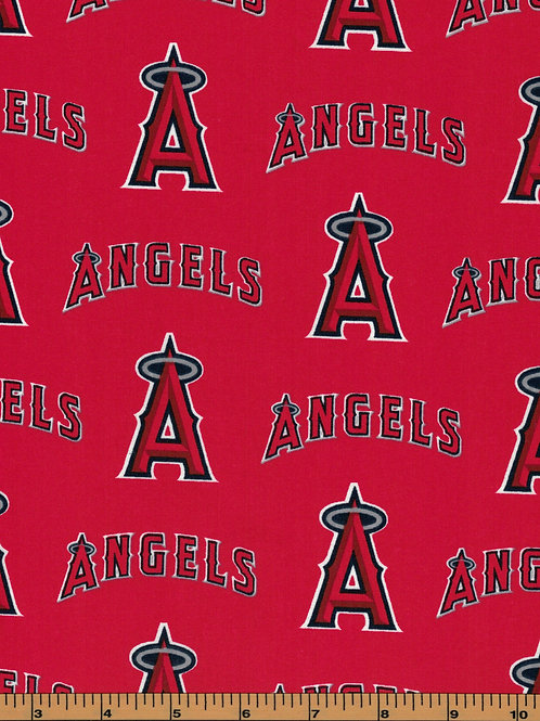 Los Angeles Angels - MLB Baseball Fabric |100% Cotton|Sold by the half yard