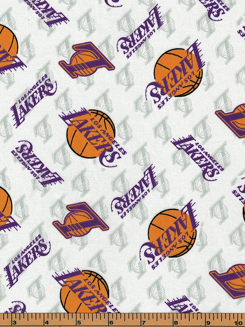 Los Angeles Lakers Basketball | NBA Fabric |100% Cotton|Sold by the half yard