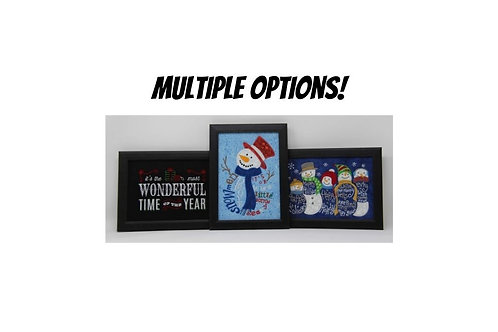 """Framed Embroidered Christmas Picture - 5""""x7"""""""