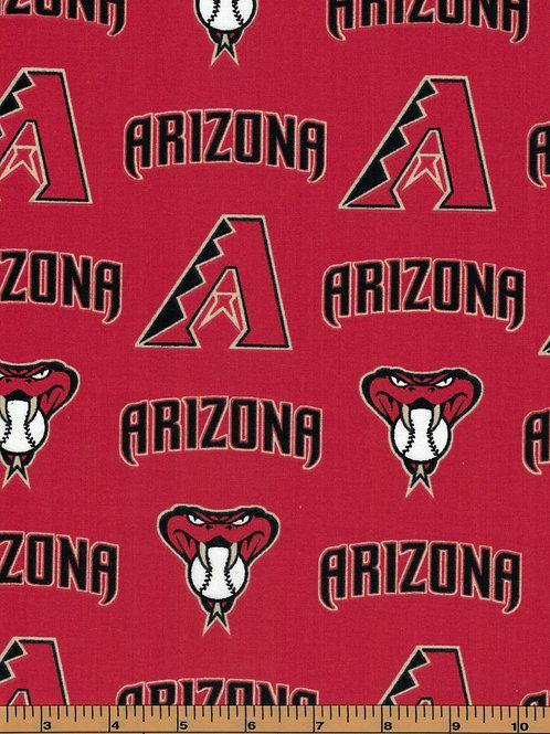 Arizona Diamondbacks - MLB Baseball Fabric |100% Cotton|Sold by the half yard