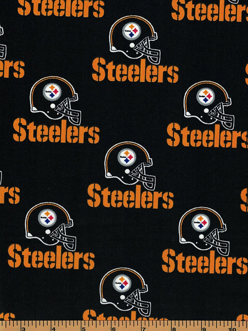 Pittsburgh Steelers Toss NFL Fabric 100% Cotton Sold by the half yard