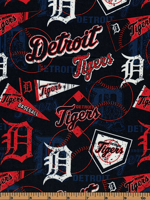 Detroit Tigers - MLB Baseball Fabric |100% Cotton|Sold by the half yard