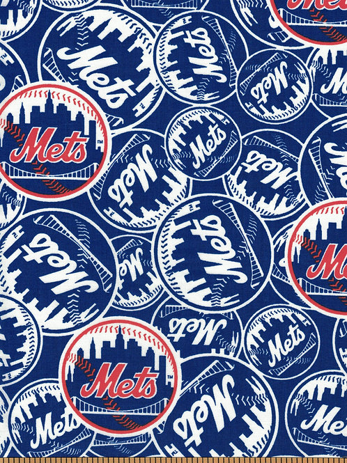 New York Mets - MLB Baseball Fabric |100% Cotton|Sold by the half Yard