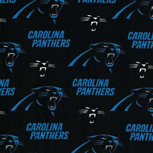 Carolina Panthers NFL Football Fabric|100% Cotton|Sold by the half yard