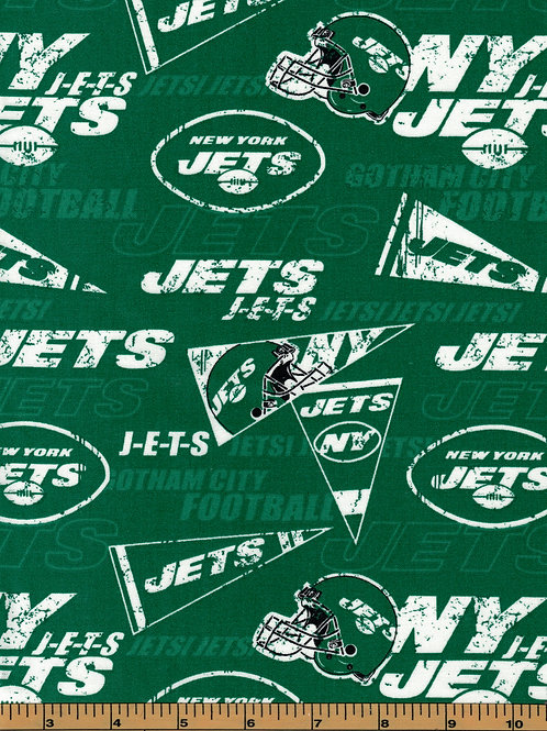 New York Jets NFL Football Fabric|100% Cotton|Sold by the half yard