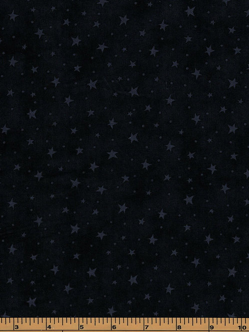 Black Stars Filler Fabric - Starry Basics - 100% Cotton- Sold by the Half yard