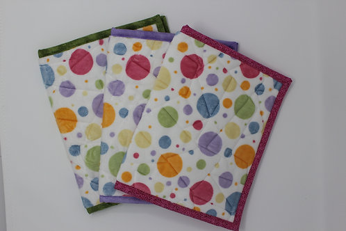 Polka Dot Minky Reusable Book Cover