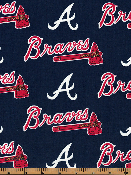 Atlanta Braves - MLB Baseball Fabric |100% Cotton|Sold by the half yard