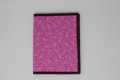 Breast Cancer Awareness Ribbon Reusable Book Cover
