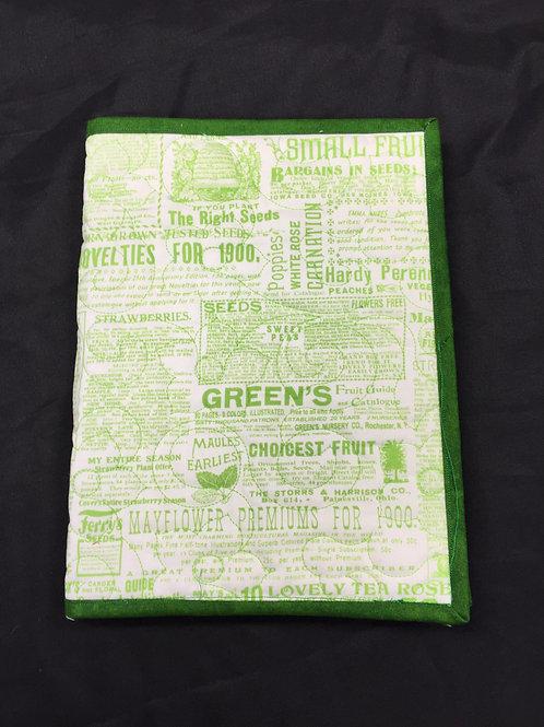 Garden Themed Reusable Book Cover