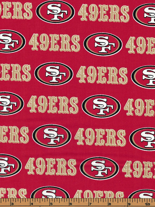 San Francisco 49ers NFL Football Fabric|100% Cotton|Sold by the half yard