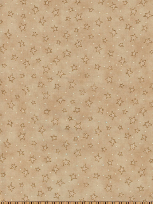 Tan Stars Filler Fabric | Starry Basics | 100% Cotton|Sold by the half yard