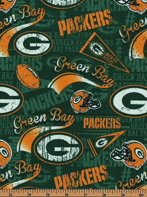 Green Bay Packers Pennants   NFL Football Fabric 100% Cotton   by the1/