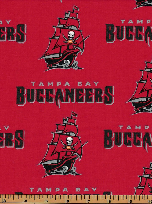 Tampa Bay Buccaneers | NFL Football Fabric|100% Cotton | by the 1/2 yard