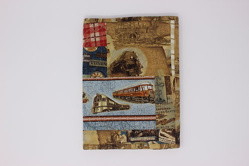 Train Themed Reusable Book Cover