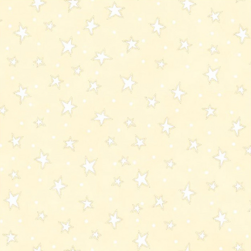 Cream Stars Filler Fabric | Starry Basics | 100% Cotton|Sold by the half yard