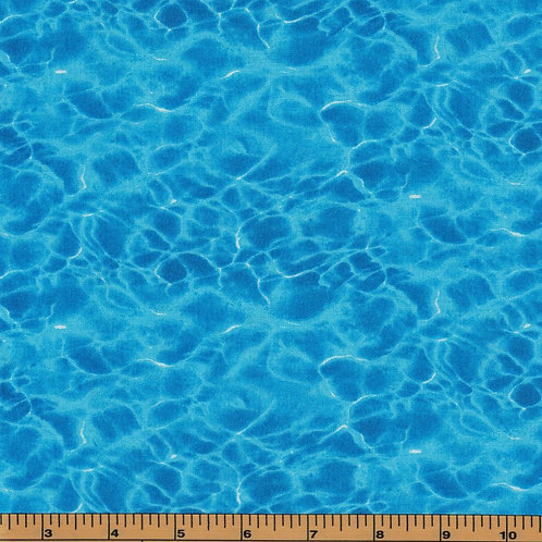 Water Fabric - 100% Cotton- Sold by the Half Yard