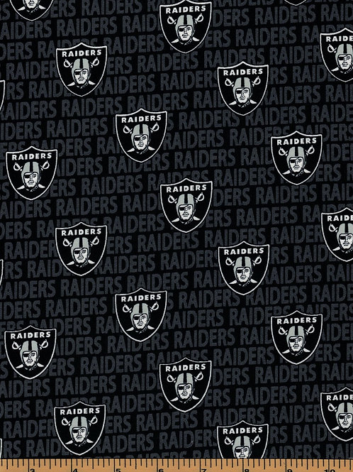 Las Vegas Raiders|Oakland Raiders NFL Fabric|100% Cotton|Sold by the half yard