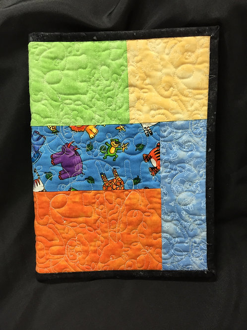 Child's Zoo Animal Themed Reusable Book Cover