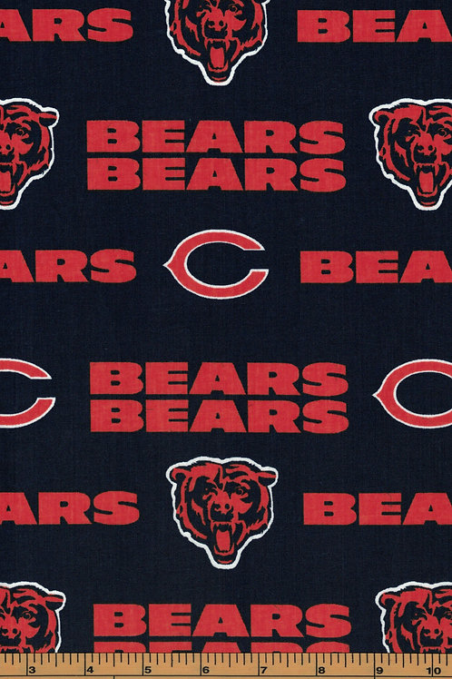 Chicago Bears NFL Football Fabric|100% Cotton|Sold by the half yard