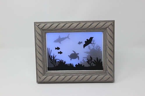 "5""x7"" Framed Ocean Themed Shadowbox"