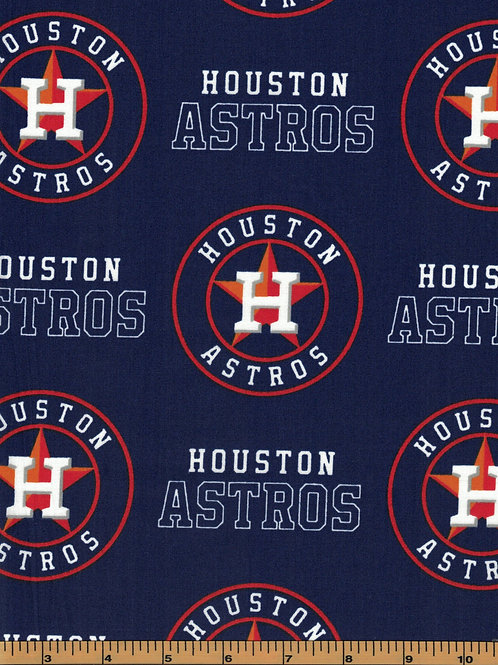 Houston Astros - MLB Baseball Fabric |100% Cotton|Sold by the half ya