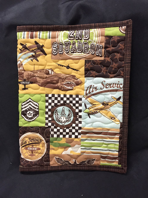 Vintage Military Themed Reusable Book Cover