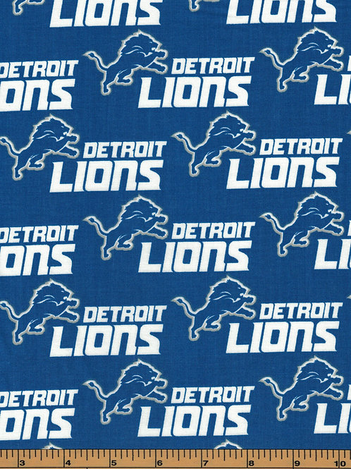Detroit Lions NFL Football Fabric|100% Cotton|Sold by the half yard