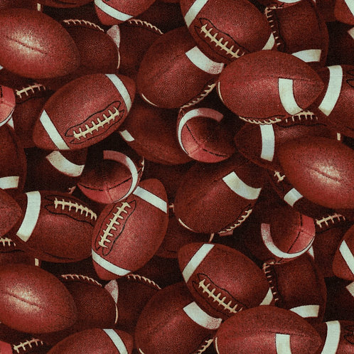 Packed Football Toss Fabric - 100% Cotton- Sold by the Half Yard