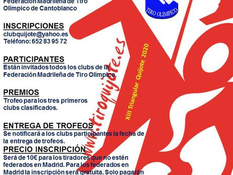 28 de junio, 19 de julio y 29 de noviembre 2020 - XIII Trofeo Triangular Quijote