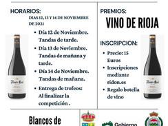 12, 13 y 14 de noviembre 2021 - XXIII Open Vino de Rioja