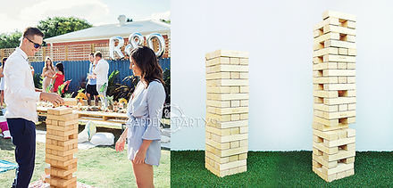 giant jenga giant lawn game hire perth
