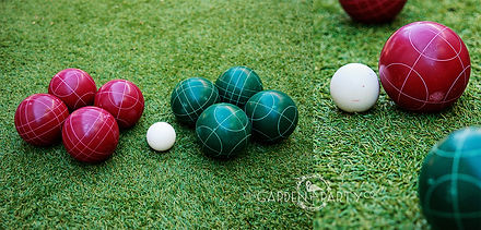 lawn game hire bocce