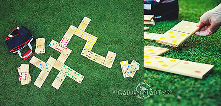 giant game hire garden dominoes lawn games