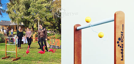lawn game hire ladder golf