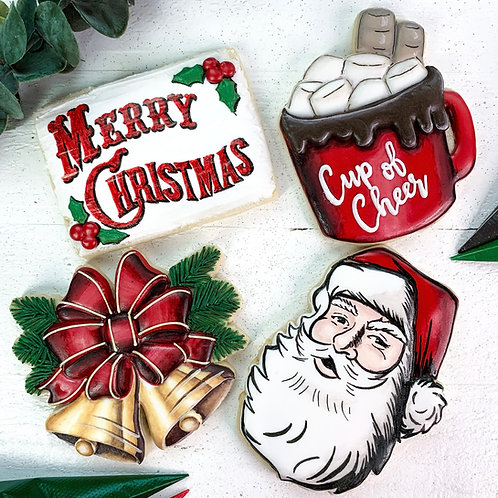 Classic Christmas Set - 4 STL Cookie Cutter Files