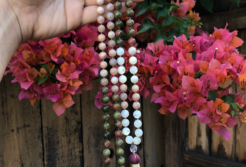 Earth's Compassion and Kindness Mala Necklace