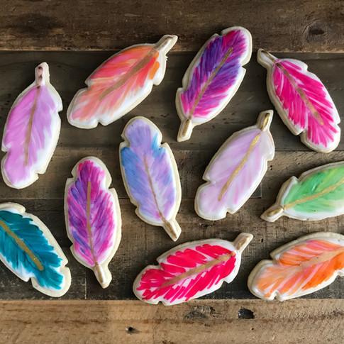 BOHO Feather Cookies!