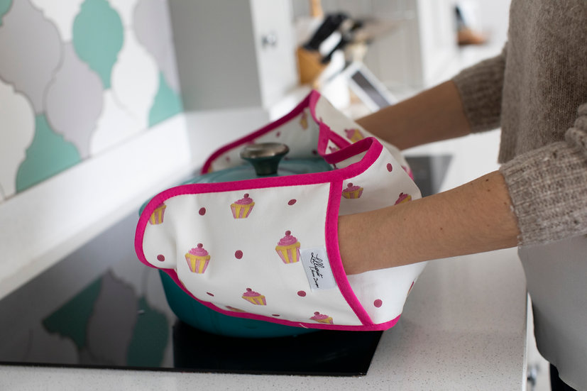 Double oven gloves - Cupcake